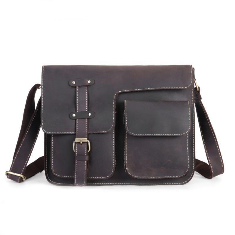 Оригинальная мужская сумка через плечо, цвет коричневый, Bexhill bx009