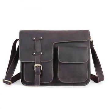 Оригінальна чоловіча сумка через плече, колір коричневий, Bexhill bx009