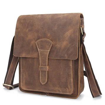 Стильна шкіряна сумка, колір коричневий, Bexhill bx007