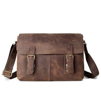 Класична шкіряна сумка, колір коричневий Bexhill bx019