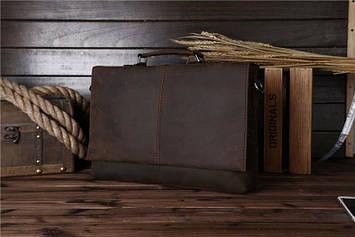Шкіряний чоловічий портфель, коричневий колір, Bexhill bx2651