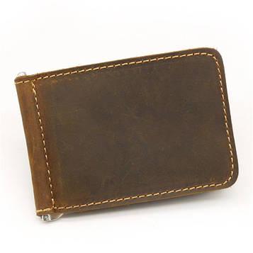 Фірмовий затиск для грошей, коричневий колір, Bexhill bx091