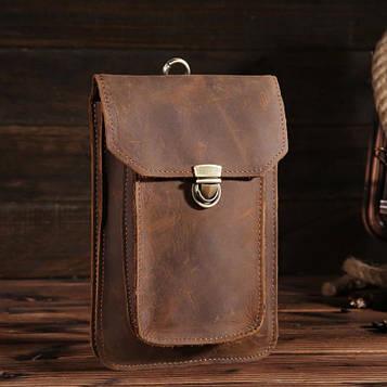 Оригінальний шкіряний аксесуар, колір коричневий, Bexhill bx2089