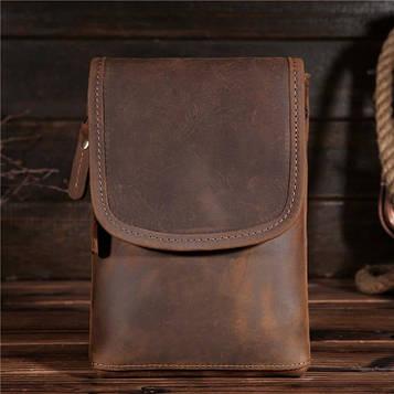 Фирменный кожаный аксессуар, цвет коричневый, Bexhill bx2093