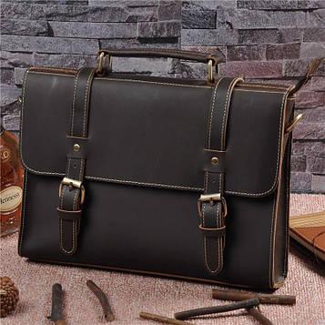 Фірмовий шкіряний портфель, колір коричневий, Bexhill bx015