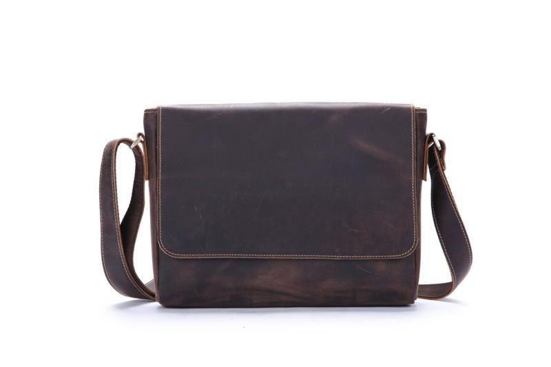 Стильна шкіряна сумка через плече, колір коричневий, Bexhill bx018
