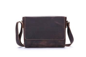 Стильная кожаная сумка через плечо, цвет коричневый, Bexhill bx018
