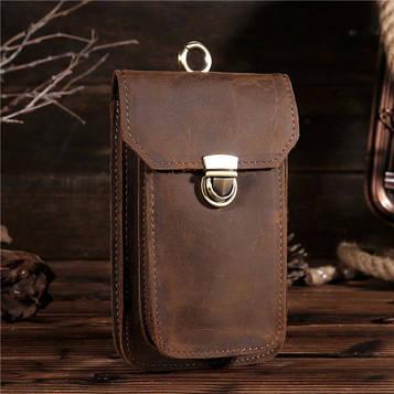 Кожаный чехол на пояс, цвет коричневый, Bexhill bx2091