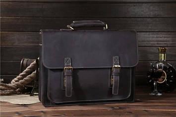Шкіряний чоловічий портфель, колір коричневий Bexhill bx014