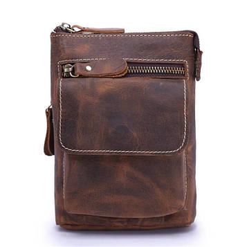 Шкіряна чоловіча сумка через плече або на пояс Bexhill bx001