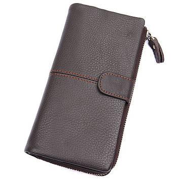 Стильный мужской кошелек, цвет кофе John McDee JD8159Q