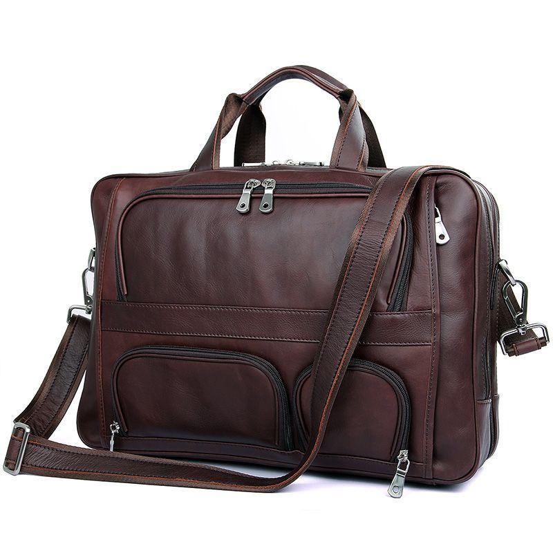Велика шкіряна сумка 7289X John McDee