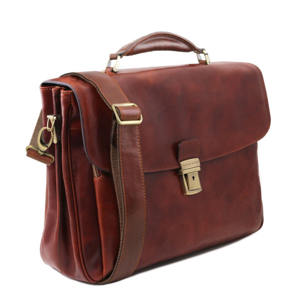 Портфель мужской кожаный ALESSANDRIA, Tuscany TL141448 (Honey – медовый)