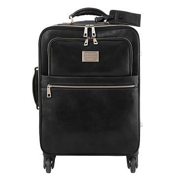Дорожня сумка шкіряна на колесах TL VOYAGER, Tuscany TL141390 (Black – чорний)