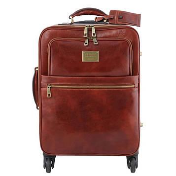 Дорожня сумка шкіряна на колесах TL VOYAGER, Tuscany TL141390 (Brown - коричневий)