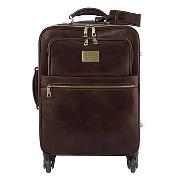 Дорожня сумка шкіряна на колесах TL VOYAGER, Tuscany TL141390 (Dark brown — темно-коричневий)