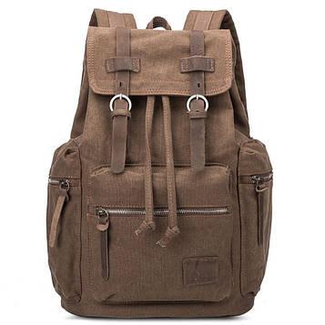 Городской рюкзак из Canvas и лошадиной кожи, коричневый BP-001BR