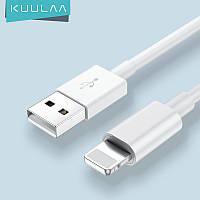 Кабель  USB - Apple Lightning (2m) 2.4 A Fast Charge дата провод быстрой зарядки и синхронизации для телефонов, фото 1
