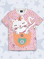Детская футболка Кот в кармашке, фото 1