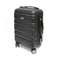 Зручна пластикова валіза Worldline, на 41 л 4-х колісна, чорна, фото 1