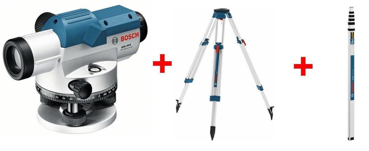 Оптический нивелир Bosch GOL 26 D (прокат, аренда)