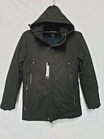 Зимняя мужская куртка с капюшоном размер норма 48-56, черного цвета