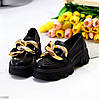 Эффектные модные черные туфли с декором на массивной подошве 38-24,5 39-25 см, фото 6