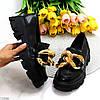 Эффектные модные черные туфли с декором на массивной подошве 38-24,5 39-25 см, фото 9