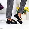 Эффектные модные черные туфли с декором на массивной подошве 38-24,5 39-25 см, фото 10