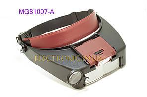 Бінокуляри MG81007-A налобна лупа зі світлодіодним підсвічуванням