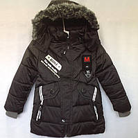 Куртка детская еврозима для мальчика Rose размер 4-7 лет, черного цвета