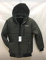 Куртка мужская зимняя FiLA норма размеры 48-56,темно синего цвета