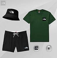 Мужской летний комплект футболка шорты, летний мужской спортивный костюм The North Face