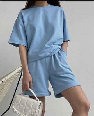 """Спортивний костюм жіночий оверсайз шорти і футболка """"Lior"""" В І"""