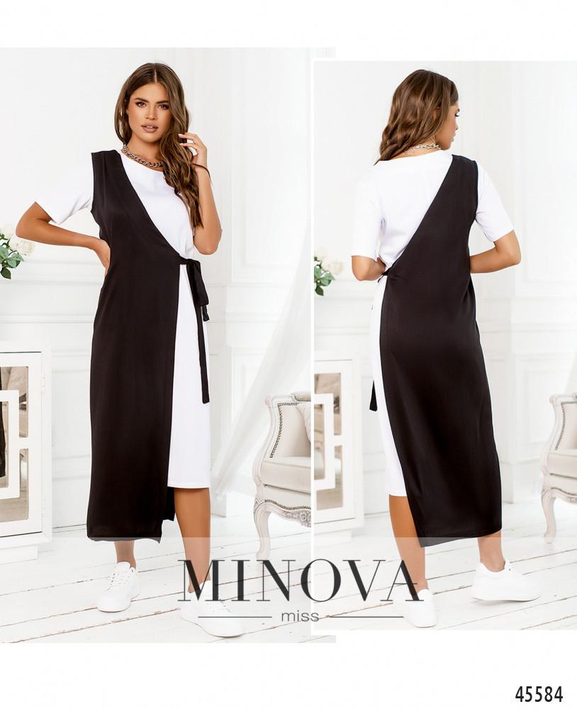 Сукня №2288-білий-чорний-білий-чорний/42-44
