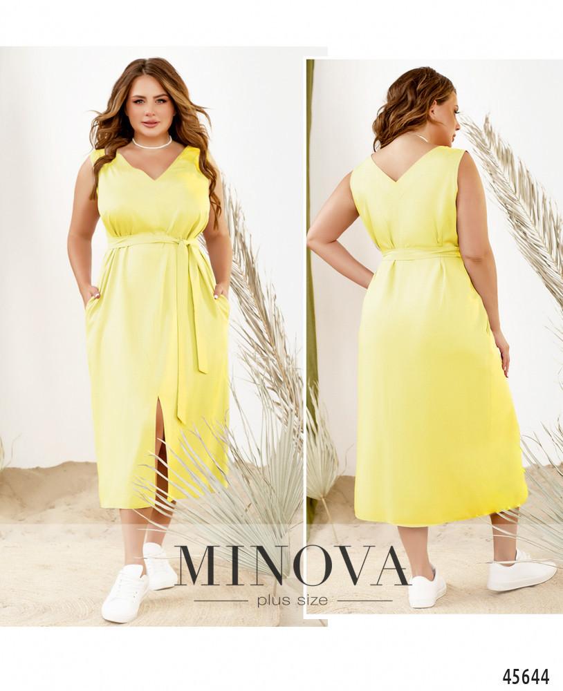 Платье №2291Б-лимонный лимонный/50-52
