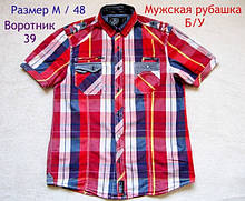 Чоловіча сорочка короткий рукав Б/У бренд Diszident Розмір М / 48 Комір 39