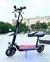 Електросамокат з сидінням Kugoo M4 Pro Чорний | Потужний електричний самокат Куго для дорослих та підлітків