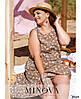 Сукня №1039Б-коричневий коричневий/50-52, фото 2