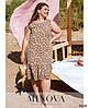 Сукня №1039Б-коричневий коричневий/50-52, фото 3