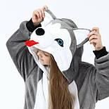 Дитячий кигуруми хаскі сірий піжама krd0158, фото 2
