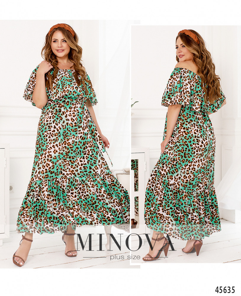 Платье №301-Зелёный Зелёный/50-52