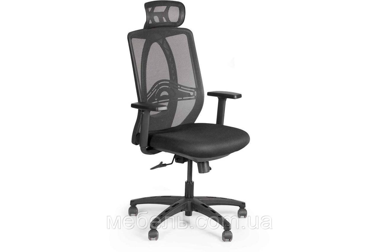 Комп'ютерне крісло Barsky Black Synchro Arm 1D_PU PA_desinge