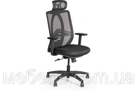 Комп'ютерне крісло Barsky Black Synchro Arm 1D_PU PA_desinge, фото 2