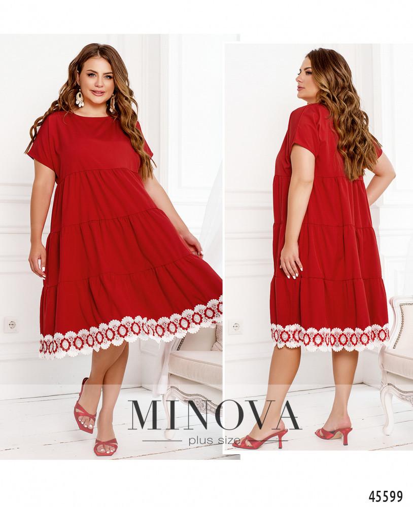 Сукня №1045Б-червоний червоний/52-54