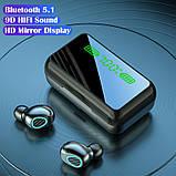 Бездротові навушники R15 сенсорні Power Bank HD Stereo Bluetooth навушники, фото 4