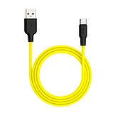 Кабель Hoco X21 Plus Tupe-C 1m Желтый, фото 2