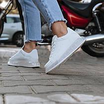 Білі кросівки alexander mcqueen деми демісезон еко шкіра шкіряні, фото 3