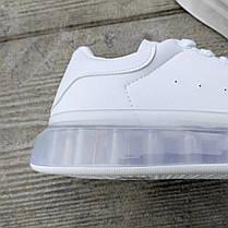 Білі кросівки alexander mcqueen деми демісезон еко шкіра шкіряні, фото 2