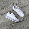 Білі кросівки alexander mcqueen деми демісезон еко шкіра шкіряні, фото 5